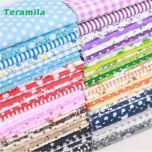 50pieces 20cm*25cm fabric stash cotton fabric charm packs patchwork fabric quilting tilda no repeat design