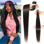 Bundles Human Hair Tissage Brazilian Human Hair Weave Bundles Straight Hair Single Bundles Deals Non-Remy Hair