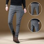 High Quality Men Pants Spring Autumn Men Pants Trousers Male Classic Business Casual Trousers Full length