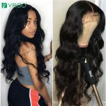 HD Lace Wig 13X6 Transparent Lace Wigs Lace Front Human Hair Wigs 28 30 inch 4X4 Closure Wig Body Wave Wig for Women Remy