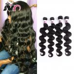 Brazilian Body Wave 4 Bundles Hair 100% Human Hair Weave Natural Black Non-Remy Body Wave Bundles Deals for Black Women