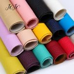 22*30cm 1pc Faux Synthetic Leather Fabric For Craft Solid Soft Litchi Sheet For DIY Hair Bow Home Decor Apparel Sewing