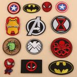 Embroidery Patches of Iron man, spiderman, batman, superhero For Clothing Patch DIY Applique Accessory Patches Clothing Decor