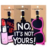 Fashion Lipstick Letter Luggage Tags Suitcase Holder Travel Accessories ID Addres Silica Gel Portable Label Baggage Boarding