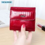 Mini Wallet Women Genuine Leather Wallets Fashion Alligator Hasp Short Wallet Female Small Woman Wallets And Purses