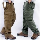 Men's Cargo Pants Mens Casual Multi Pockets Military Tactical Pants Men Outwear Straight slacks Long Trousers Large size