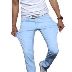 New Men Stretch Skinny Jeans Fashion Casual Slim Fit Denim Trousers Blue Black Khaki White Pants Male Brand Clothes