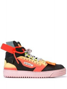 New Season  OFF-WHITE Off Court security tag sneakers