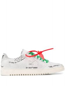 OFF-WHITE grafitti logo sneaker