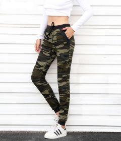 Women Sweatpants Harem Camo Pants Drawstring Pantalones