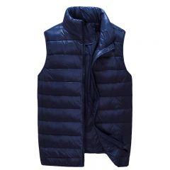 New Arrival Men Sleeveless Jacket Winter Ultralight White Duck Down Vest Male Slim Vest Mens Windproof Warm Waistcoat