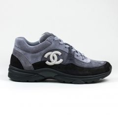 CHANEL CC LOGO SNEAKER BLACK GREY