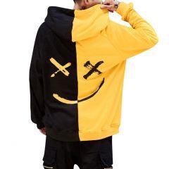 Smiling Face Print Hoodie Sweatshirt Men Pullover Tops Hooded Sweatshirt Moleton Streetwear Sudadera Hombre Plus Size S-5XL