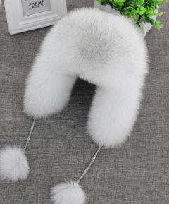 Real Fox Fur Hat Women's Russian Ushanka Aviator trapper snow skiing Hat caps earflap winter raccoon fur Bomber hat