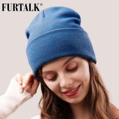 Beanie Hat for Women Men Winter Hat Knitted Autumn Skullies Hat Unisex Ladies Warm Bonnet Cap Korean Black Red Cap