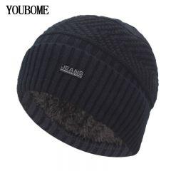 Skullies Beanies Winter Hats For Men Beany Knitted Hat Women Male Gorras Warm Soft Neck Balaclava Bonnet Beanie Hat Cap