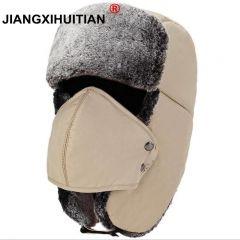 Balaclava Earflap Bomber Hats Caps Scarf Men Women Russian Trapper Hat Trooper Earflap Snow Ski Hat Cap With Scarve