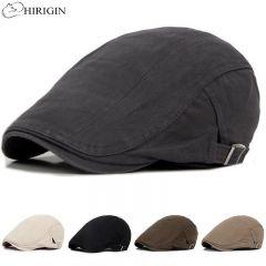 Adjustable Beret Caps Outdoor Sun Breathable Bone Brim Hats Womens Mens Herringbone Solid Flat Berets Cap Hat