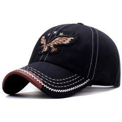New 3D Eagle Embroidery Baseball Cap Male Cap Hip Hop Flat Along Snapback Hats Baseball Cap Lovers Cap For Men & Women