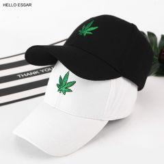 New Men New Maple Hemp Leaf Embroidery Baseball Hat Avoid Outdoor Sun Hot Women Best Adjustable Travel Baseball Cap