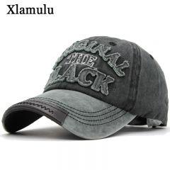 Hot Retro Baseball Caps Hats For Men Casquette Brand Women Snapback Caps Washed Bone Men Hat Gorras Letter Black Cap