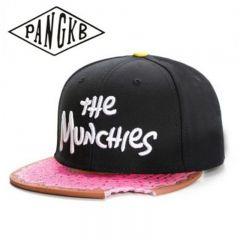 snacks pink snapback hat men women adult hip hop Headwear outdoor casual sun baseball cap gorras bone