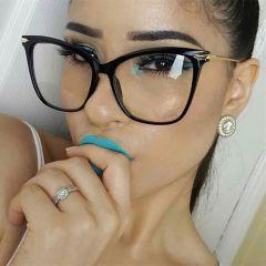 Lady Cat Eye Glasses Frames For Women Sexy Oversized Metal Frame Brand Designer Optical EyeGlasses Fashion Eyewear