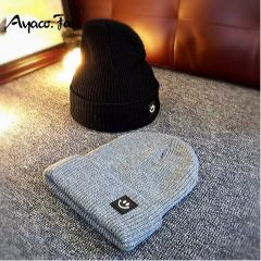 Cute Smile Crochet Knit Cap Beanie Autumn New Solid Warm Skullies Beanies Caps Female Knitted Hat Ladies Girls Winter Hats