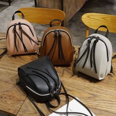 New lady small backpack women leather Shoulder Bag MultiFunction mini backpacks female School bagpack bag for teenage grils