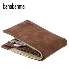 Men Wallet Short Bifold PU Leather Men Purses Fashion multifunction Coin Bag Zipper Small Money Purses clutch Money Clip