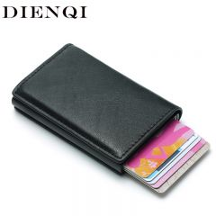 Rfid Card Holder Men Wallets Money Bag Male Vintage Black Short Purse Small Leather Slim Wallets Mini Wallets Thin