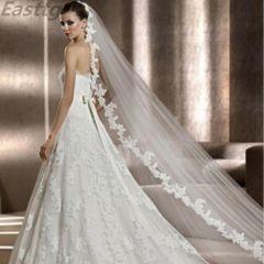 White/Ivory Wedding Veil 3m Long Comb Lace Mantilla Cathedral Bridal Veils Wedding Accessories Veu De Noiva