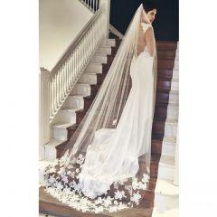 Best Selling Cheapest In Stock Long Bridal Veil Appliques 2019 Veu De Noiva Longo Wedding Veil Lace Purfle