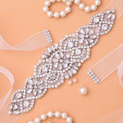 Rhinestones Bridal Belt Diamond Wedding Dress Belt Crystal Wedding Sash For Wedding Dress Accessories