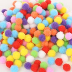 Hot 100-500Pcs/lot Mixed Soft Round Shaped Pompom Balls Fluffy Pom Pom For Kids DIY Garment Handcraft 10mm/15mm/20mm/25mm/30mm