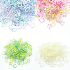 20g Assorted Unicorn Color ABS Pearl Bow Heart Flatback Cabochons DIY Resin Shaker Charms Molds Stuff Moon Star Slime Fillings
