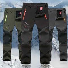 Winter Men Cargo Pants Elastic Waist Travel Softshell Trousers Waterproof Windproof Thermal Men's Warm Woman Men's Trousers