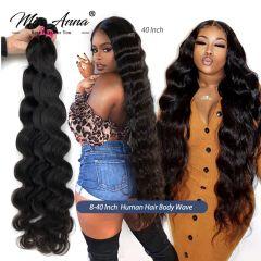 Brazilian Human Hair Weave Bundles Body Wave 8- 32 36 40 Inch Natural Color 1/3/4PCS 100% Remy Human Hair Weave Bundles