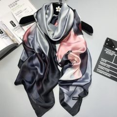 luxury brand Women Silk scarf Beach Shawl and Echarpe summer Wrap Designer scarves Plus Size female beach stoles bandana