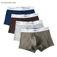Elastic Wide Belt Men Underpant Solid Cotton Panties Model Boxer Sexy Plus Size Boxe