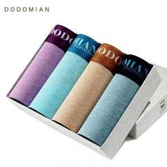 4Pcs\lot Underwear Organic Natural Cotton Boxers Men Boxers Ventilate Plus Size Boxers