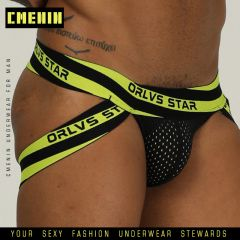 Men Underwear Briefs Gay Penis Pouch Thong Mens Underwear Man Jockstrap tanga Jockstrap pouch Jocks Cotton Mesh Underpants