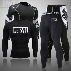 men's thermal underwear set MMA tactics leggings Solid color fitness Men's compression clothingWinter long johns Brands men