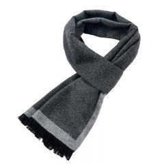 New Brand Winter Men's gift Gray Striped Scarves Business gentleman,Cashmere Scarf ,Men Scarves,Bufanda