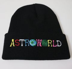 Astroworld Beanies Travis Scott Knitted Embroide rCaps Winter Bonnet Hats for Adult Kids