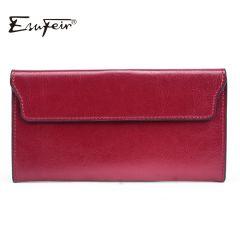 Fashion Genuine Leather Women Wallet Long Cowhide Multiple Cards Holder Clutch Female Purse Standard Wallets