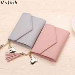 Fashion Tassel Women Wallet for Credit Cards Small Luxury Brand Leather Short Womens Wallets and Purses Carteira Feminina
