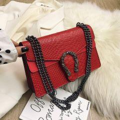 New Shoulder Bag Chains Messenger Bag Fashion Girls Casual Handbag Simple Leisure Personality Small Square Women Bag