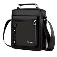 Men's Handbag Messenger Bag Waterproof Men Oxford Zipper Bag Crossbody for Male Male Business Casual Single Shoulder Bag