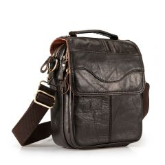 "Quality Original Leather Male Casual Shoulder Messenger bag Cowhide Fashion Cross-body Bag 8"" Pad Tote Mochila Satchel bag"